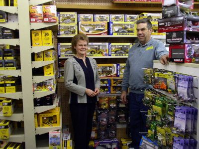 Joanne and Ralph Jolley in the Meaford store