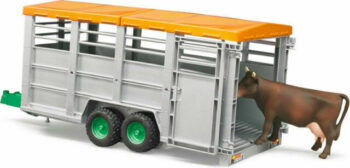 1:16 Bruder Cattle Trailer with cow