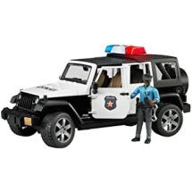 Bruder Rubicon Police Car with Dark Skin Policeman