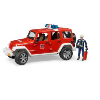 Bruder Jeep Rubicon Fire Vehicle with Fireman