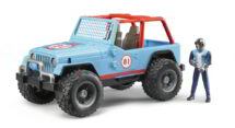 Blue Team 81 Racing Jeep with Driver