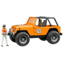 Orange Team 77 Racing Jeep with Driver
