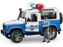 Police Land Rover with Lights & Officer with Equipment
