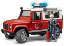 Land Rover Fire Truck With Fireman & Lights & Sound Kit