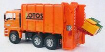 MAN Garbage truck rear loading orange LOTOS system Von Haller