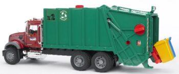 Mack Granite garbage truck ruby red-green
