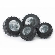 Twin tires with grey rims for tractor series 03000
