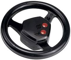 Steering wheel with real tractor engine noise and horn