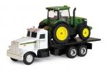 Peterbilt truck model 367 with John Deere 7200R tractor set 1/64