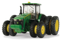John Deere 8400R with Front Duals and Rear Tripples