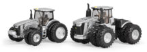 1:64 John Deere Set 9570R and 8400R Silver