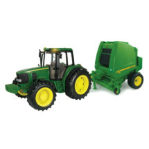1:16 Big Farm John Deere Tractor and Baler with Lights and Sound