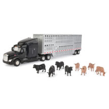 Peterbilt Model 579 With Livestock Trailer Includeds 8 Cows