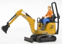 JCB Micro excavavtor 8010 CTS and Construction worker