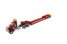1:50 International HX520 Tendem Truck and Triaxle Trialer with Extention Red